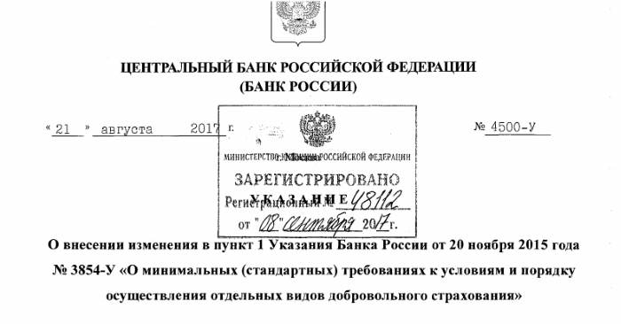 указание Центробанка РФ
